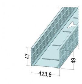 Protektor Galvanised Steel DIN Standard 0.6mm Stud Profile 124mm x 0.6mm x 4m 1 Length