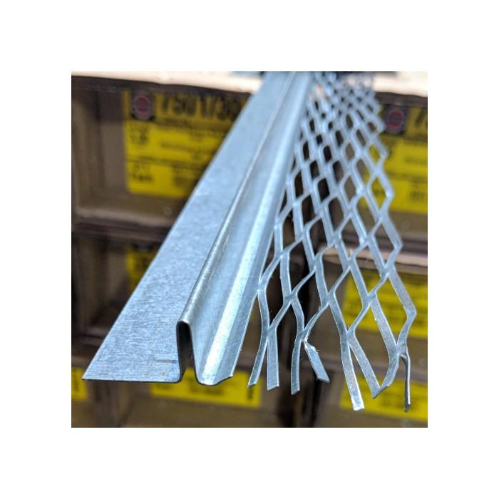 Protektor Galvanised Steel 14mm Architrave Bead 3.0m (1 length)