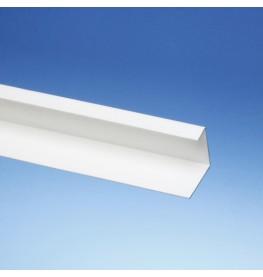 Wemico 42mm x 27mm x 15mm x 250cm White PVC Corner Angle Profile 1 length