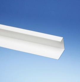 Protektor 42mm x 27mm x 15mm x 250cm White PVC Corner Angle Profile (1 length)