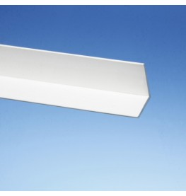 Wemico White PVC 90 Degree Angle Facade Profile 35mm x 35mm x 1.5mm x 2.5m 1 Length
