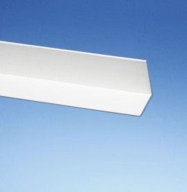 Protektor White PVC Angle Facade Profile 35mm x 35mm (1 length)
