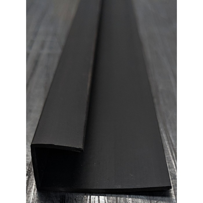 Wemico Black PVC Channel Profile 42mm x 13mm x 15mm x 2.5m 1 Length
