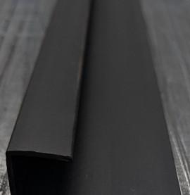 Wemico Black PVC Channel Profile 42mm x 13mm x 15mm x 2.5m 1 Length