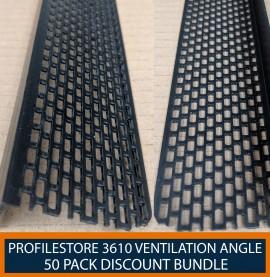 50 Pack of Wemico Black PVC Ventilation Angle 30mm x 50mm x 2.5m