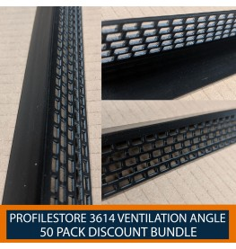 50 Pack of Wemico Black PVC Ventilation Angle 25mm x 25mm x 2.5m