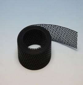 Protektor 100mm PVC  Black Ventilation Strip (5M Roll)