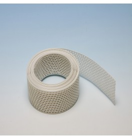 Wemico 100mm PVC White Ventilation Strip 5m Roll