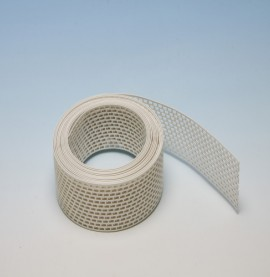 Protektor 100mm PVC  White Ventilation Strip (5M Roll)