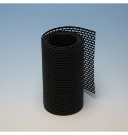 Wemico 150mm PVC Black Ventilation Strip 5m Roll