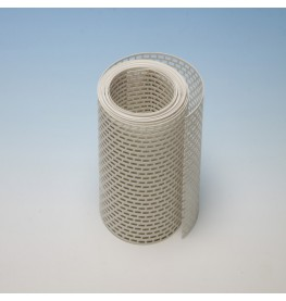 Wemico 150mm PVC White Ventilation Strip 5m Roll