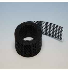 Wemico 80mm PVC Black Ventilation Strip 5m Roll