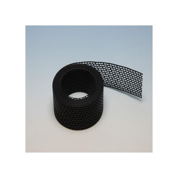 Protektor 80mm PVC  Black Ventilation Strip 5M Length (1 strip)