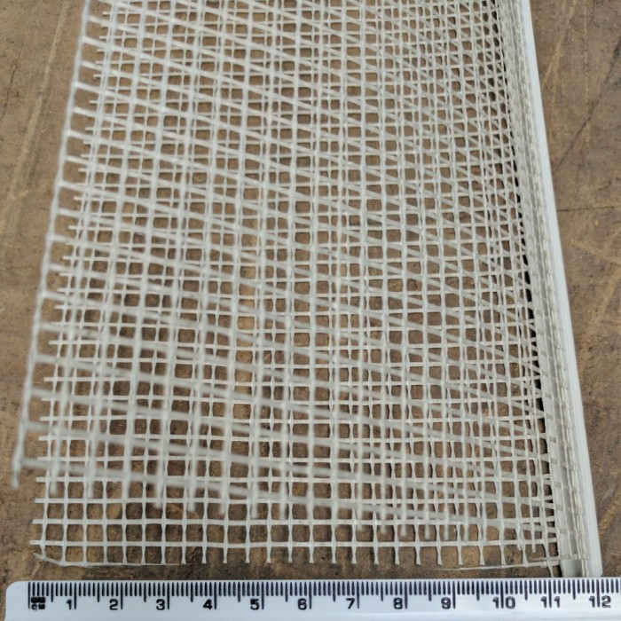 Wemico Corner Bead With Fibre Glass Mesh 5mm x 11.5mm x  2.5m 1 length