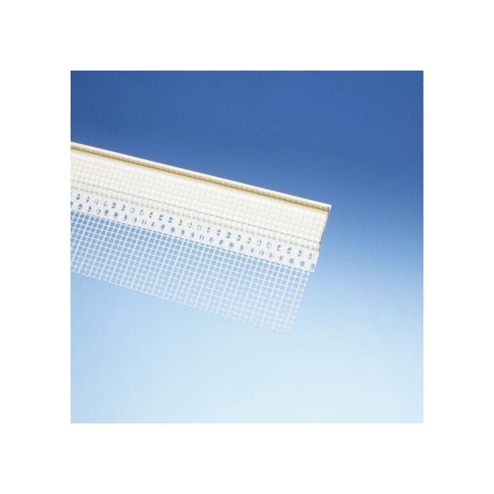 Protektor 53mm x 3.5mm x 250cm PVC / Glass Fibre Horizontal Joint Mesh Profile (1 length)