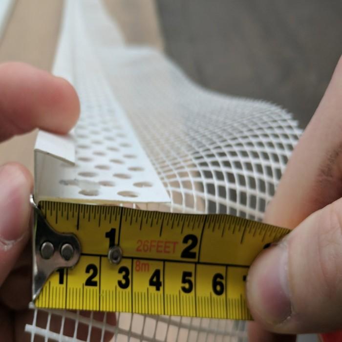 Wemico 9mm PVC Edge Bead with Fibre Glass Mesh 2.5m (1 length)
