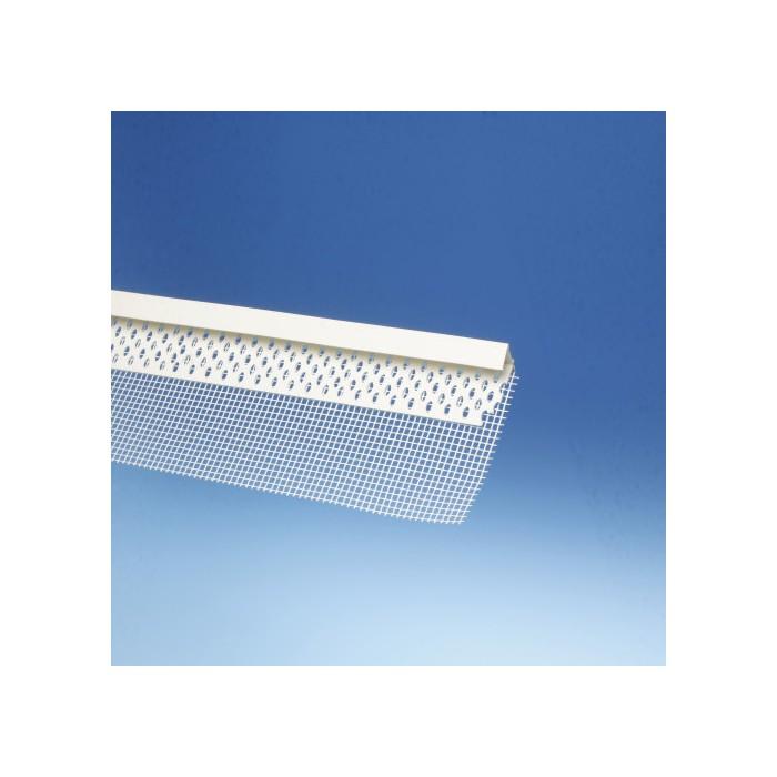 Protektor PVC Edge Profile with Glass Fibre Mesh 15mm x 12.8mm x 40mm x 100mm x 250cm (1 length)
