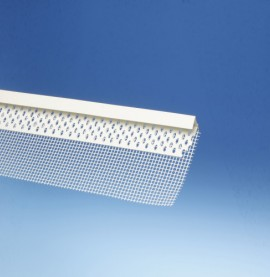 Protektor PVC Edge Profile with Glass Fibre Mesh 15mm x 12.8mm x 40mm x 100mm x 250cm (1 length)