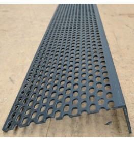 Wemico 30mm x 90mm x 2.5m Black PVC Ventilation Angle 1 Length