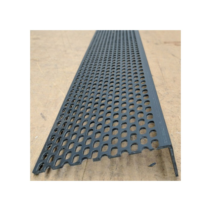 Wemico 30mm x 90mm x 2.5m Black PVC Ventilation Angle (1 length)