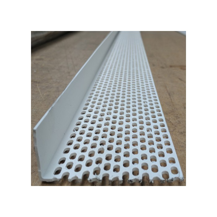 Wemico 30mm x 90mm x 2.5m White PVC Ventilation Angle (1 length)