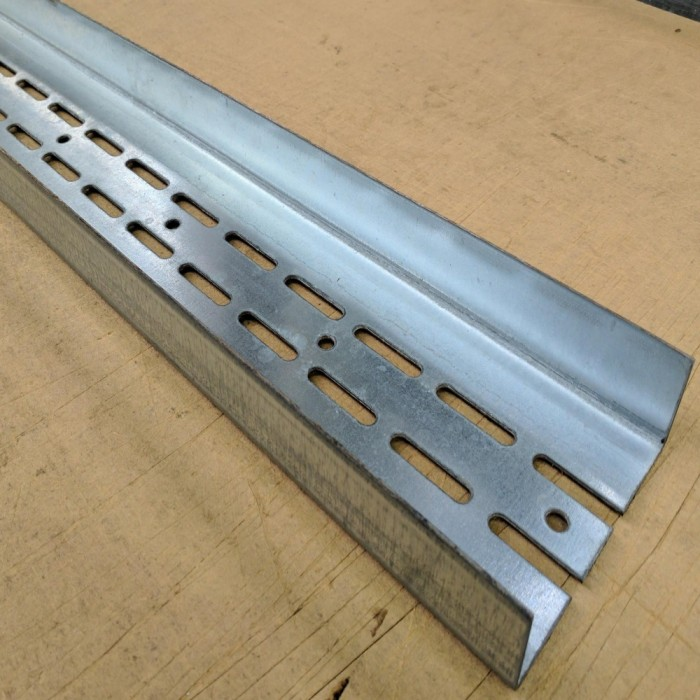 Protektor Galvanised Steel Door Frame Profile Partition Wall 123mm x 40mm x 4m 1 length