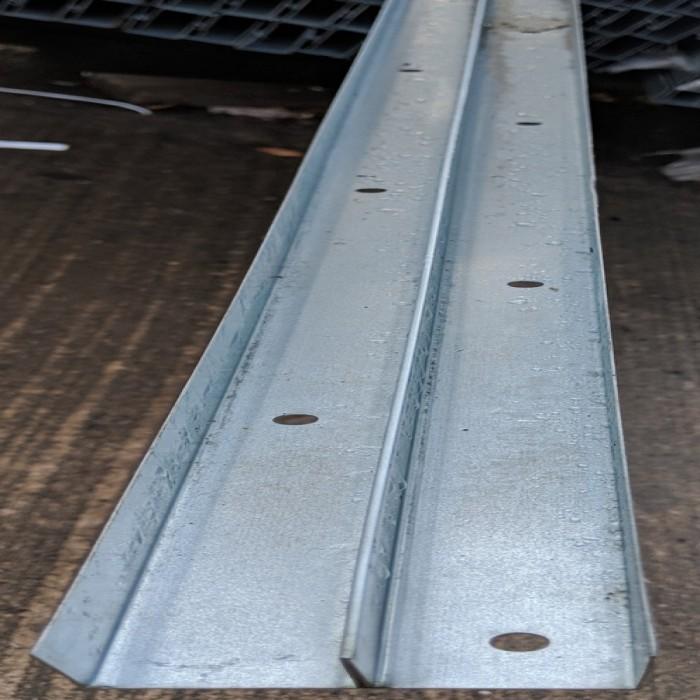 Protektor Galvanised Steel DIN Perimeter Profile 3m 1 Length