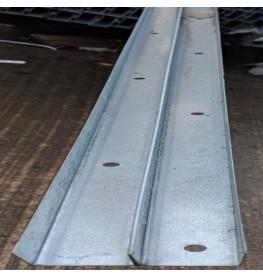 Protektor Galvanised Steel DIN Perimeter Profile 27mm x 27.5mm x 0.6mm 3m 1 Length