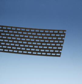 Wemico 70mm x 2.5m Aluminium Black Ventilation Strip 1 length