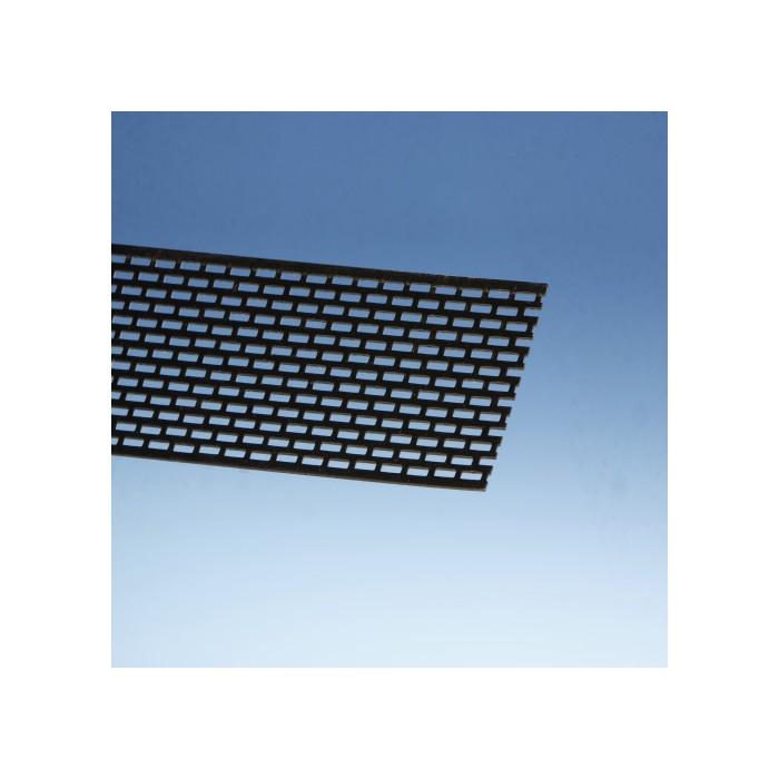 Protektor 80mm PVC  Black Ventilation Strip 2.5m (1 length)