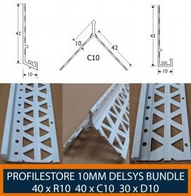 Wemico White PVC 10mm Render Bead Bundle
