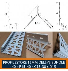 Wemico White PVC 15mm Render Bead Bundle
