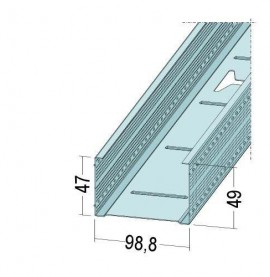 Protektor Galvanised Steel DIN Standard 0.6mm Stud Profile 99mm x 0.6mm x 3.5m 1 Length