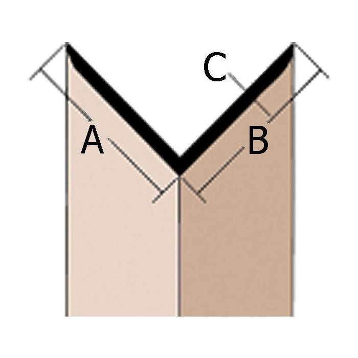 Wemico Black PVC 90 Degree Angle Facade Profile 65mm x 65mm x 1.5mm x 2.5m 1 Length