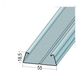 Protektor Galvanised Steel DIN Standard TPS CD Profile 18.5mm x 55mm x 2.4m 1 Length