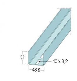 Protektor Galvanised Steel Door Reinforcement Profile 48.8mm x 2mm x 4m