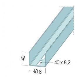 Protektor Galvanised Steel DIN Door Reinforcement Profile 5129/40 (4.0m)