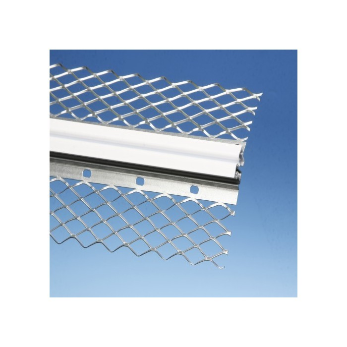 Movement joint profile for interior and exterior plaster Galvanised Steel 3m x 14mm (1 length)