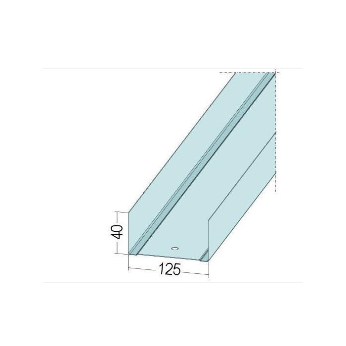 Protektor Galvanised Steel DIN Standard Track Profile 40mm x 150mm x 40mm x 0.6mm 4m 1 Length