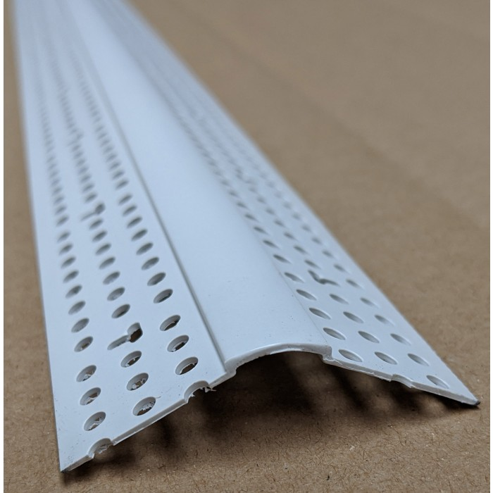 Trim-Tex 350 Bullnose Splayed Corner Bead White PVC 3m 1 Length 35030