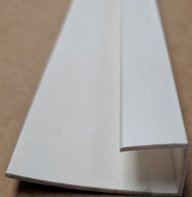 Wemico White PVC Clip on Profile 20mm x 15mm x 10mm x 250 cm 1 length