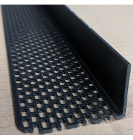 Wemico Black PVC Ventilation Angle 30mm x 50mm x 2.5m 1 Length