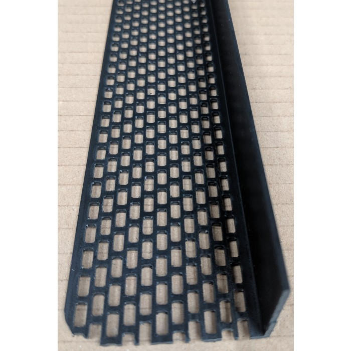 Wemico Black PVC Ventilation Angle 50mm x 30mm x 2.5m 1 Length