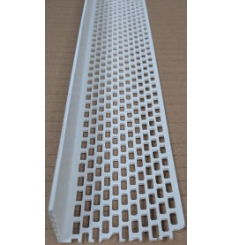 Wemico White PVC Ventilation Angle 50mm x 30mm x 2.5m 1 Length