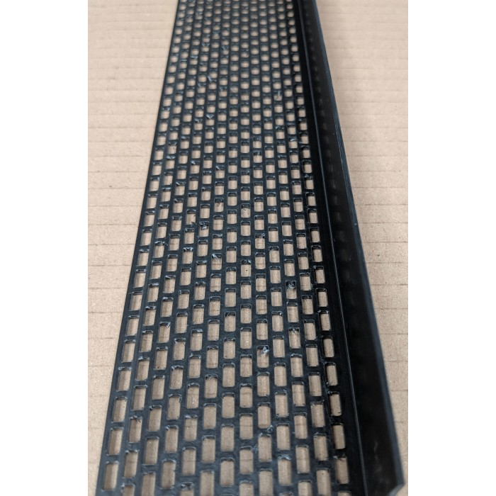 Wemico Black PVC Ventilation Angle 60mm x 30mm x 2.5m 1 Length