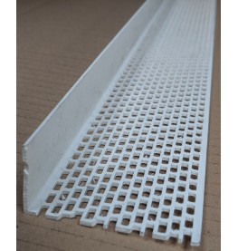 Wemico White PVC Ventilation Angle 30mm x 60mm x 2.5m 1 Length
