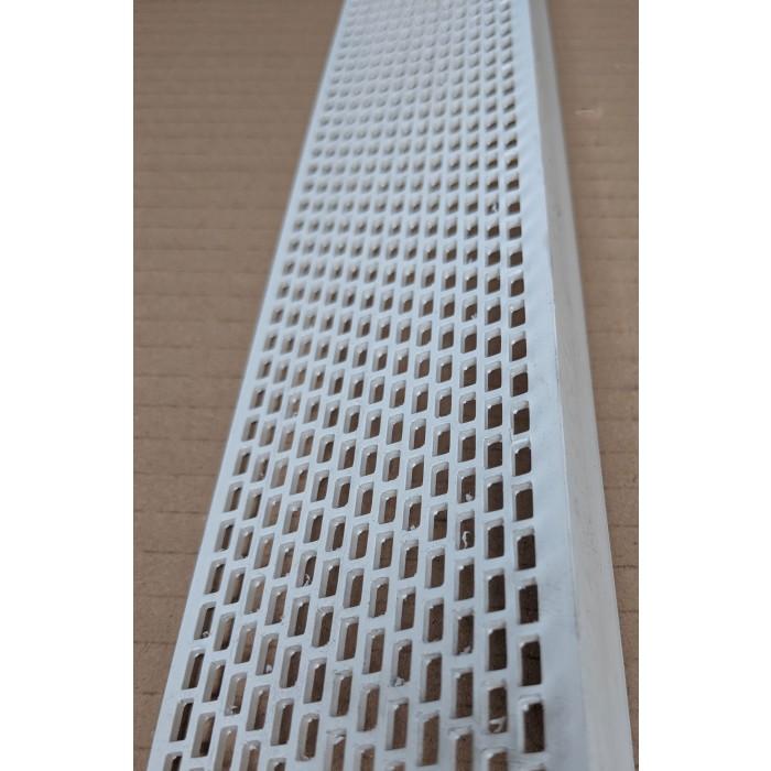 Wemico White PVC Ventilation Angle 60mm x 30mm x 2.5m 1 Length