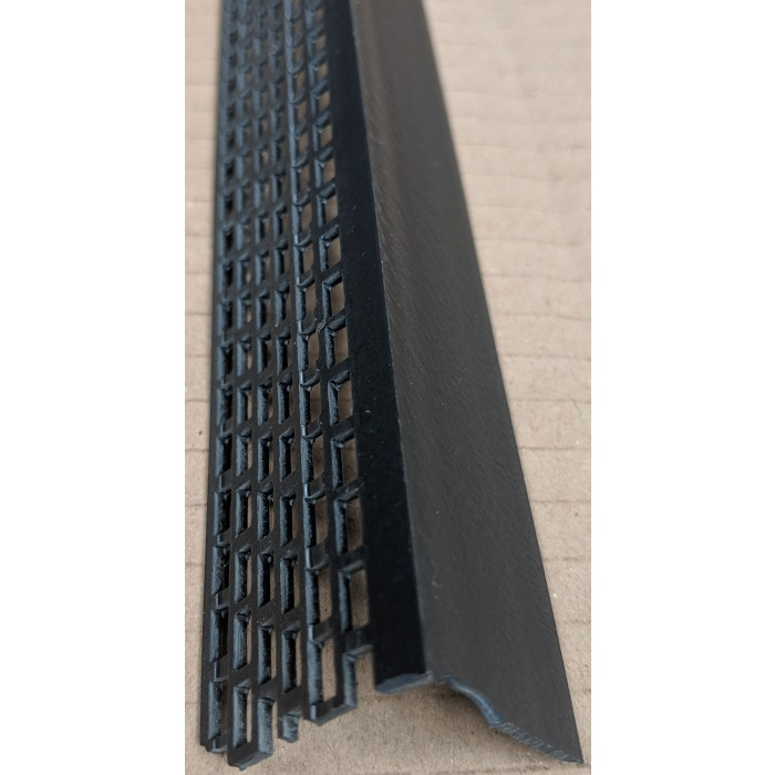 Wemico Black PVC Ventilation Angle 30mm x 30mm x 2.5m 1 Length