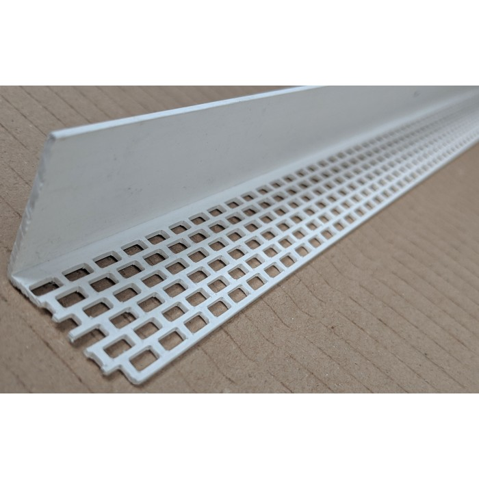Wemico White PVC Ventilation Angle 30mm x 30mm x 2.5m 1 length