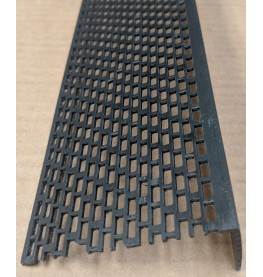 Wemico Black PVC Ventilation Angle 70mm x 30mm x 2.5m 1 Length